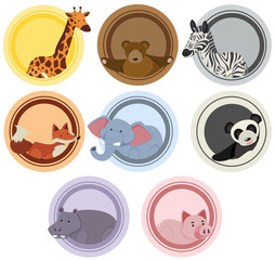 Label templates with wild animals