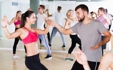 People dancing at dance class