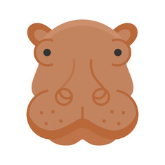 Rhino animals icon logo design vector mammals illustration