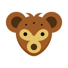 Koala animal logo vector mammals head illustration