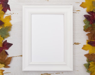 Picture Frame on a Fall Background - Add your own image