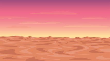 Foto op Plexiglas Zalm Vector illustration of the morning or twilight desert