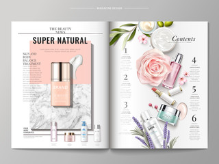 Cosmetic magazine template