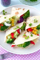 Pfannkuchen mit Gemüse