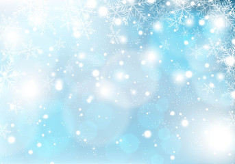 winter snowing christmas background