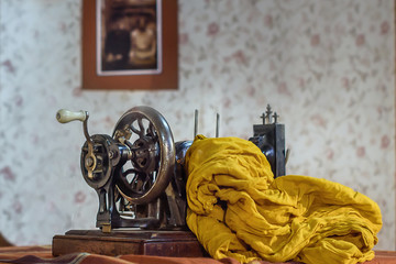 Still life with an old sewing machine