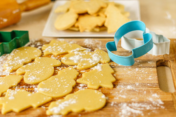 Christmas different form cookies winter selebration background.