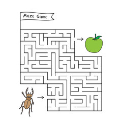 Cartoon beetle Maze Game
