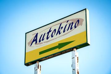 Fototapete - Schild 301 - Autokino