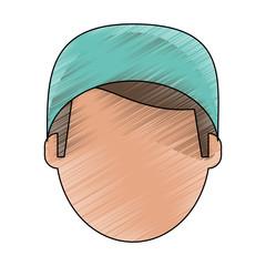 Surgeon faceless avatar icon vector illustration graphic design