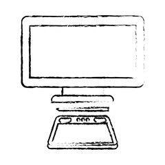 graphic tablet computer gadget designer tool vector illustration