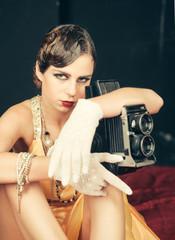 Pin up pretty fashion model photographer.