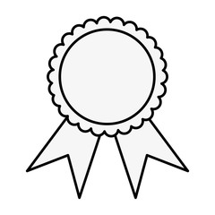 Award ribbon symbol icon vector illustration graphic design