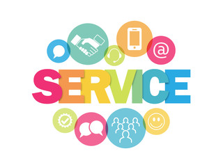 """SERVICE"" concept banner"