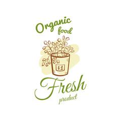 Organic Food Fresh Product Badge