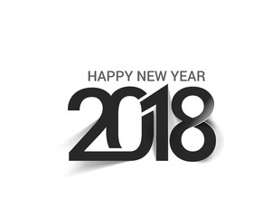 Happy new year 2018 Text Design.