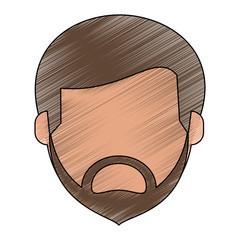 Man faceless avatar icon vector illustration graphic design