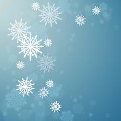 Christmas. Snowfall. Celebratory background.