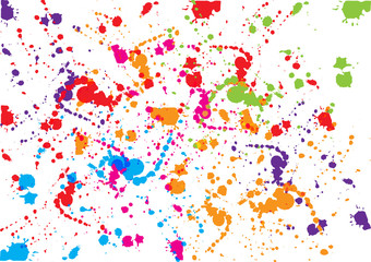 abstract vector splatter color design background. illustration vector design.