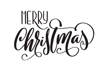 Merry Christmas vector Calligraphic Lettering text for design greeting cards. Holiday Greeting Gift Poster. Calligraphy modern Font