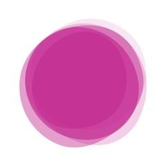 Runde ovale lila Fläche mit transparentem Rand