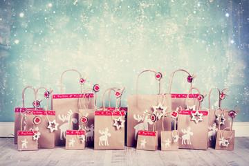 selbstgebastelter Weihnachtskalender