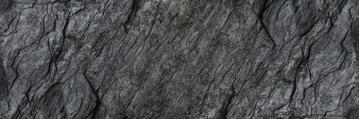 Photo sur Aluminium Cailloux horizontal black stone texture for pattern and background