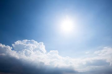 blue sunny cloud sky