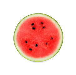 Half of watermelon isolated on white background