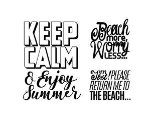 Summer time lettering poster. Vector illustration.
