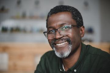 mature african american man in bar