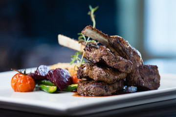 Grilled lamb carre