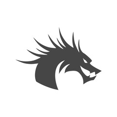 Dragon mascot, Black Silhouette Of Dragon