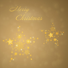 Christmas time. A lot of stars for Christmas. Text : Merry Christmas