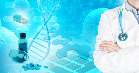 doctor in pharmaceutical research background