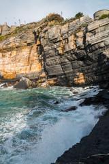 Wall Murals Cappuccino La scogliera a Portovenere, La Spezia, Golfo dei Poeti, Liguria, Italia