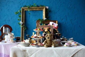 decorations for a mad tea party Alice in Wonderland