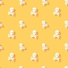 Skull And Bones Seamless Decorative Pattern