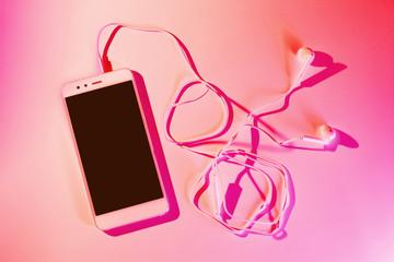 Mobile phone (smartphone) and earphones