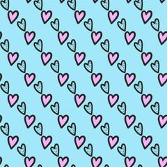 Cute romantic vintage  vector  seamless pattern