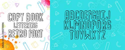 Modern fancy copybook alphabet handwritten font letters hand handwritten font letters hand lettering font for your design m4hsunfo
