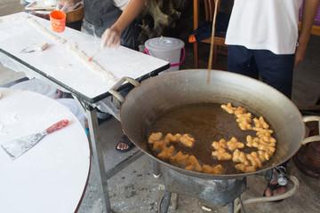 Chinese deep-fried Doughstick or Dough-stick