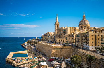 Deurstickers Mediterraans Europa View of Valletta, the capital of Malta