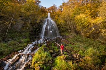 Trusetaler Wasserfall im Herbst / Thüringen