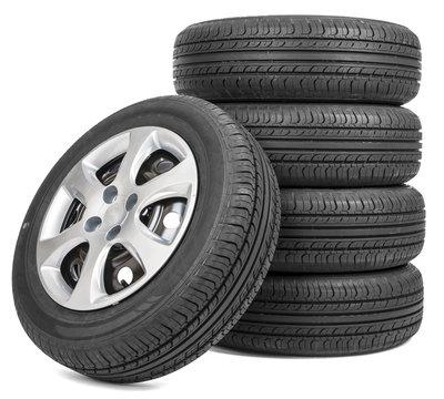 Closeup of tires