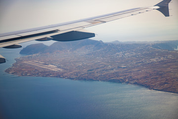 view of the island from the aircraft