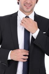 tighten a necktie