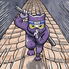 Ninja Cat Running on the Roof