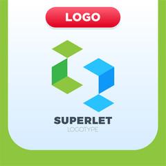 Business corporate letter S logo design vector.