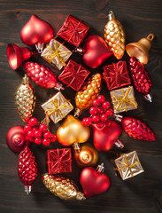 christmas gift box and decoration background